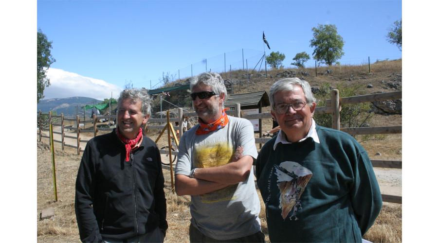 Codirectores de los Yacimientos del Valle de los Neandertales. Juan Luis Arsuaga, Enrique Baquedano, Alfredo Pérez-González